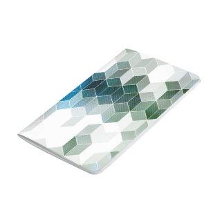 Carnet De Poche Conception graphique de cube bleu génial