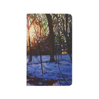Carnet De Poche Coucher du soleil sur la neige 2010