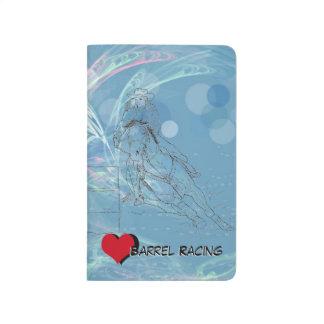 Carnet De Poche Coureur bleu de baril de coeur de pluie