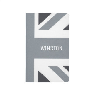 Carnet De Poche Coutume moderne britannique d'Union Jack | Black
