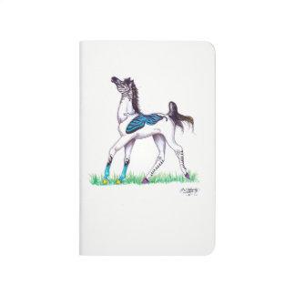 Carnet De Poche Danse bleue de cheval de zèbre de papillon