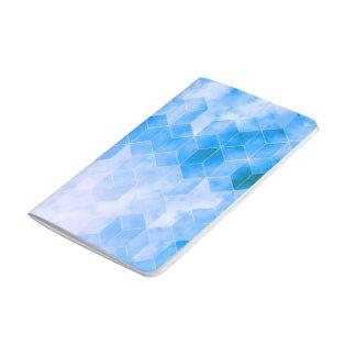 Carnet De Poche Dessin géométrique de cube bleu