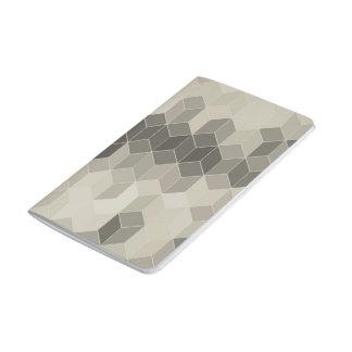 Carnet De Poche Dessin géométrique de cube en gamme de gris