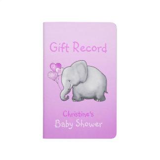 Carnet De Poche Disque mignon de cadeau de baby shower de fille