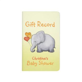 Carnet De Poche Disque neutre de cadeau de baby shower d'éléphant