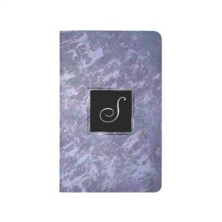 Carnet De Poche Éclaboussure pourpre lilas | de monogramme