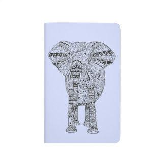 Carnet De Poche Éléphant Artsy illustré par main unique