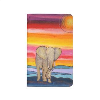 Carnet De Poche Éléphant coloré au coucher du soleil