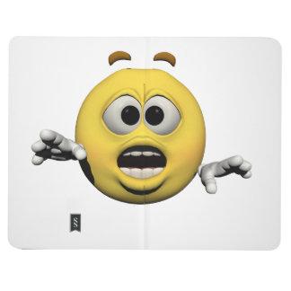 Carnet De Poche Émoticône jaune ou smiley de crainte