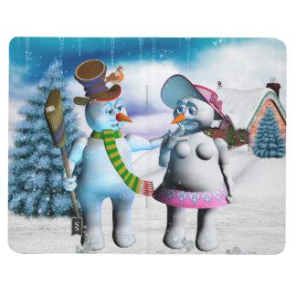 Carnet De Poche Femmes drôles de bonhomme de neige et de neige