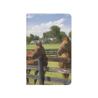 Carnet De Poche Ferme de cheval de pur sang dans le comté de
