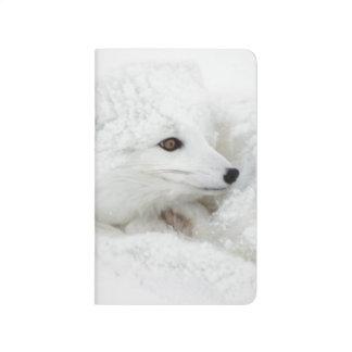 Carnet De Poche Fox arctique courbé en hiver