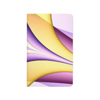 Carnet De Poche Fractale colorée par pastel. Jaune, rose, pourpre