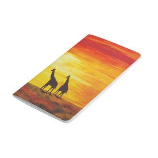 Carnet De Poche Girafes au coucher du soleil (art de Kimberly
