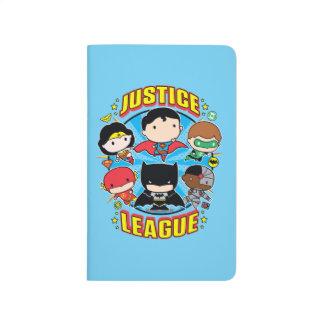 Carnet De Poche Groupe de ligue de justice de Chibi