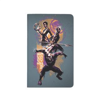 Carnet De Poche Guerriers de la panthère noire | Wakandan peints