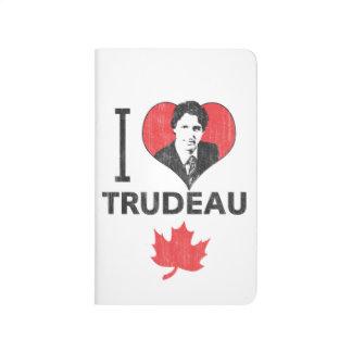 Carnet De Poche I coeur Trudeau