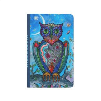 Carnet De Poche Illustration de cool d'imaginaire de hibou