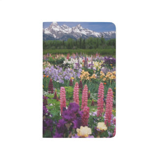 Carnet De Poche Iris et jardin de loup et chaîne de Teton,