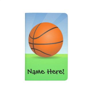 Carnet De Poche Jour ensoleillé de basket-ball des sports de
