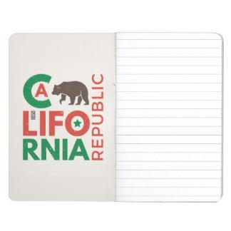 Carnet De Poche La Californie avec le logo d'ours gris