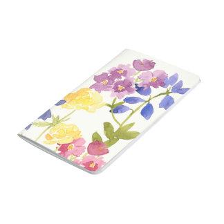 Carnet De Poche La couleur pour aquarelle colorée fleurit le