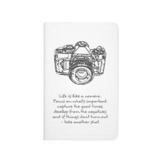 Carnet De Poche La vie est comme une citation d'appareil-photo
