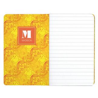 Carnet De Poche Le motif jaune ensoleillé | ajoutent votre nom
