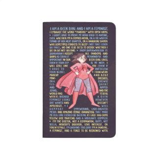 Carnet De Poche Les litanies de la fille de geek pour le féminisme