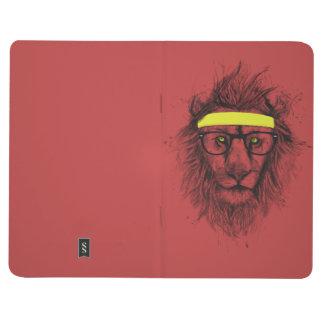 Carnet De Poche Lion de hippie (rouge)