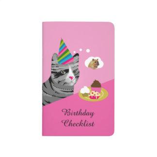 Carnet De Poche Liste de contrôle drôle d'anniversaire de chat