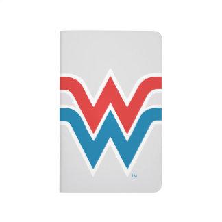 Carnet De Poche Logo blanc de femme de merveille et bleu rouge