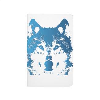 Carnet De Poche Loup de bleu glacier d'illustration