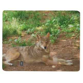 Carnet De Poche Loup rouge de repos