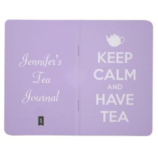 Carnet De Poche Maintenez calme et ayez la lavande de thé