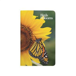 Carnet De Poche Monarque Butterfies sur le tournesol