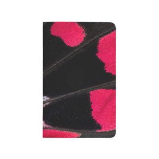 Carnet De Poche Motif d'aile de détail de papillon tropical