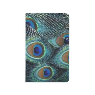 Carnet De Poche Motif dans les plumes masculines de paon