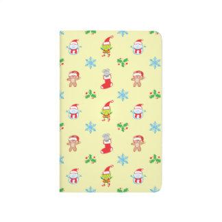 Carnet De Poche Motif de Noël de souris, de bonhomme de neige, de