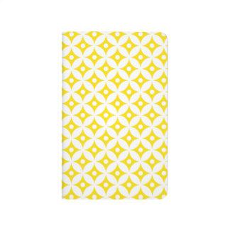 Carnet De Poche Motif de pois jaune et blanc moderne de cercle