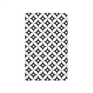 Carnet De Poche Motif de pois noir et blanc moderne de cercle