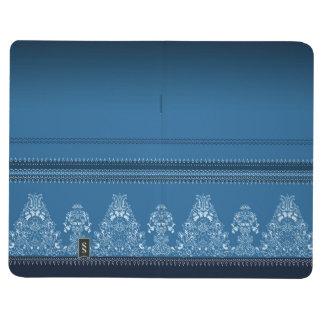 Carnet De Poche Motif floral traditionnel bleu de Paisley