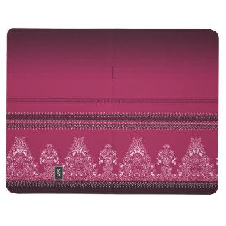 Carnet De Poche Motif floral traditionnel rose de Paisley