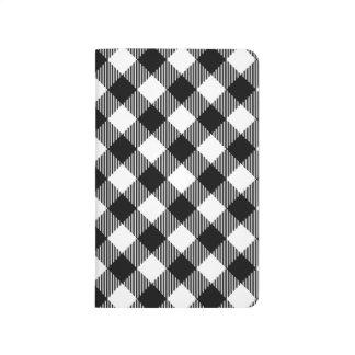 Carnet De Poche Motif noir et blanc moderne de guingan de contrôle