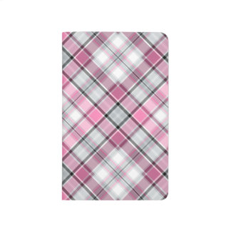 Carnet De Poche Motif rose de plaid chic