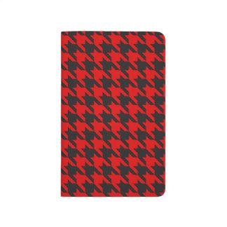 Carnet De Poche Motif rouge et noir de pied-de-poule