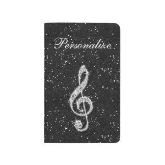 Carnet De Poche Note scintillante étincelante imprimée de musique