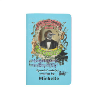 Carnet De Poche Oiseau de compositeur de Schubird de parodie de