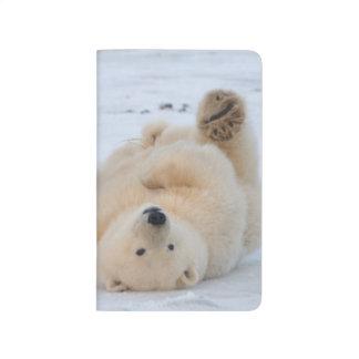 Carnet De Poche ours blanc, maritimus d'Ursus, petit animal