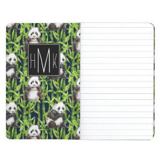 Carnet De Poche Panda avec le monogramme en bambou du motif  